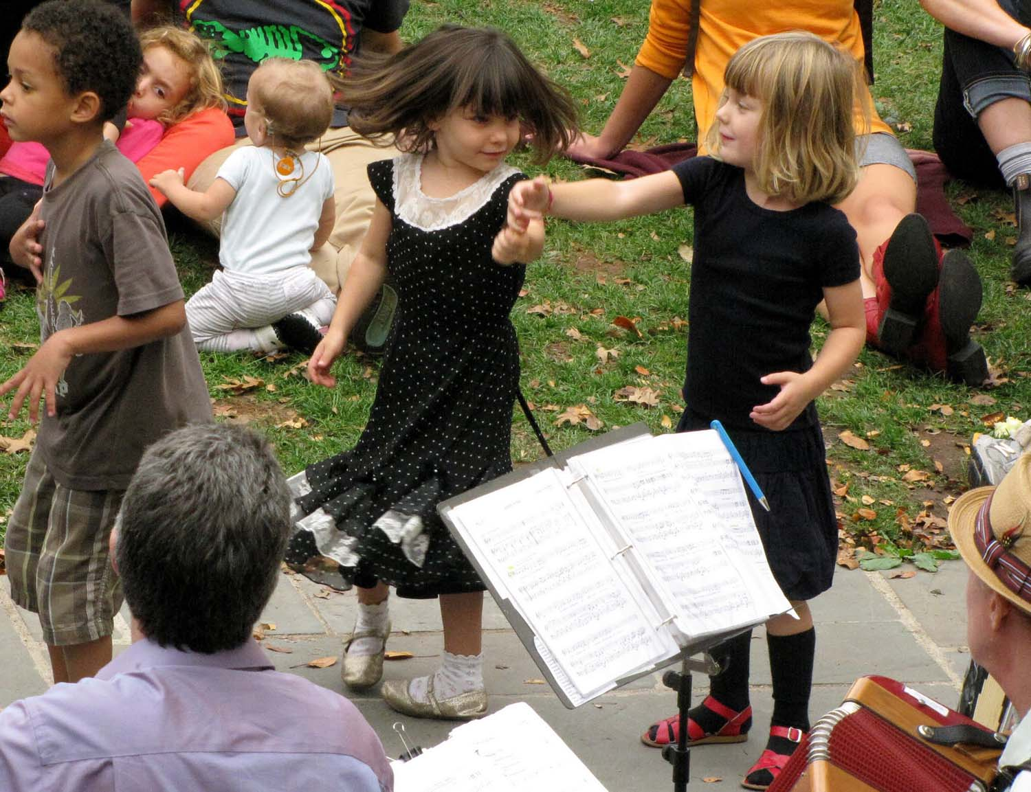 Dancing to the music at OSH