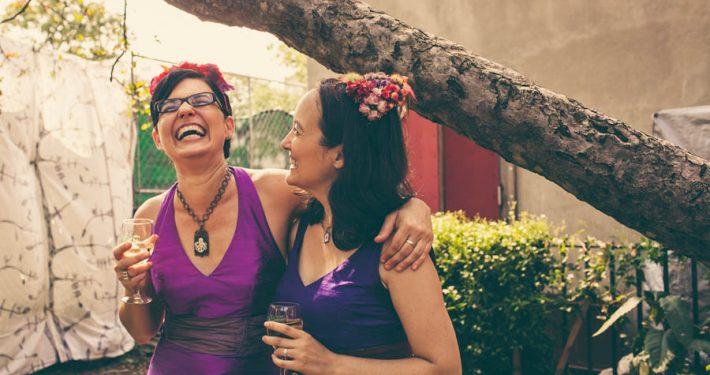 Brides celebrating at OSH