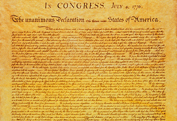 dramatic reading of the declaration of independence at the vander