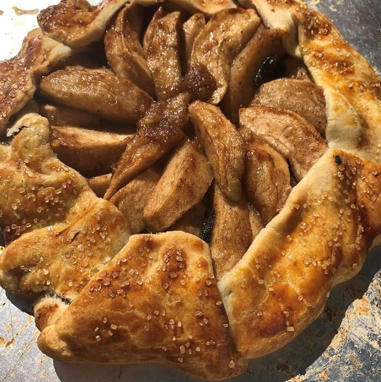 A baked apple tart