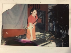 Jen Kutler operates one of her instruments
